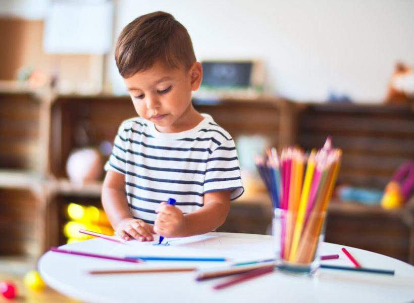 Little boy in preschool