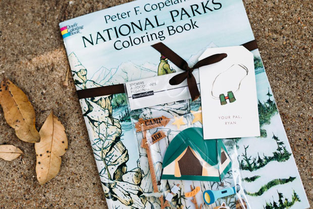 coloring book, National Parks birthday party, photo by Kelly Christine Sutton