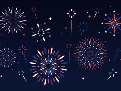 fourth of july fireworks illustration