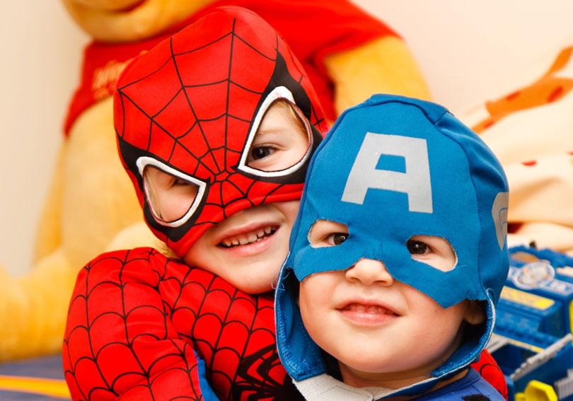 Boy, superheroes, Image courtesy of Life Skills Autism Academy