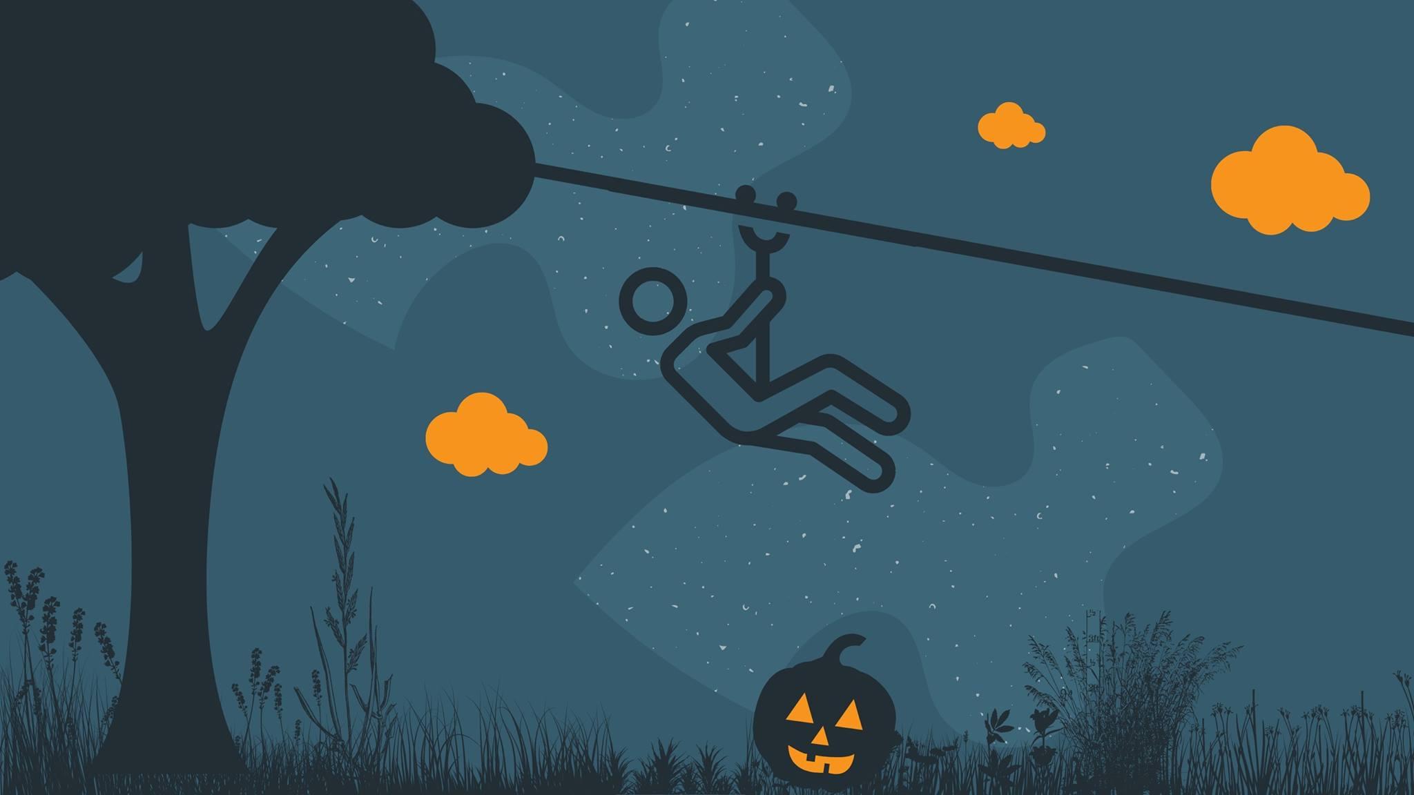 Halloween Zip After Dark, Heard Natural Science museum and Wildlife Sanctuary