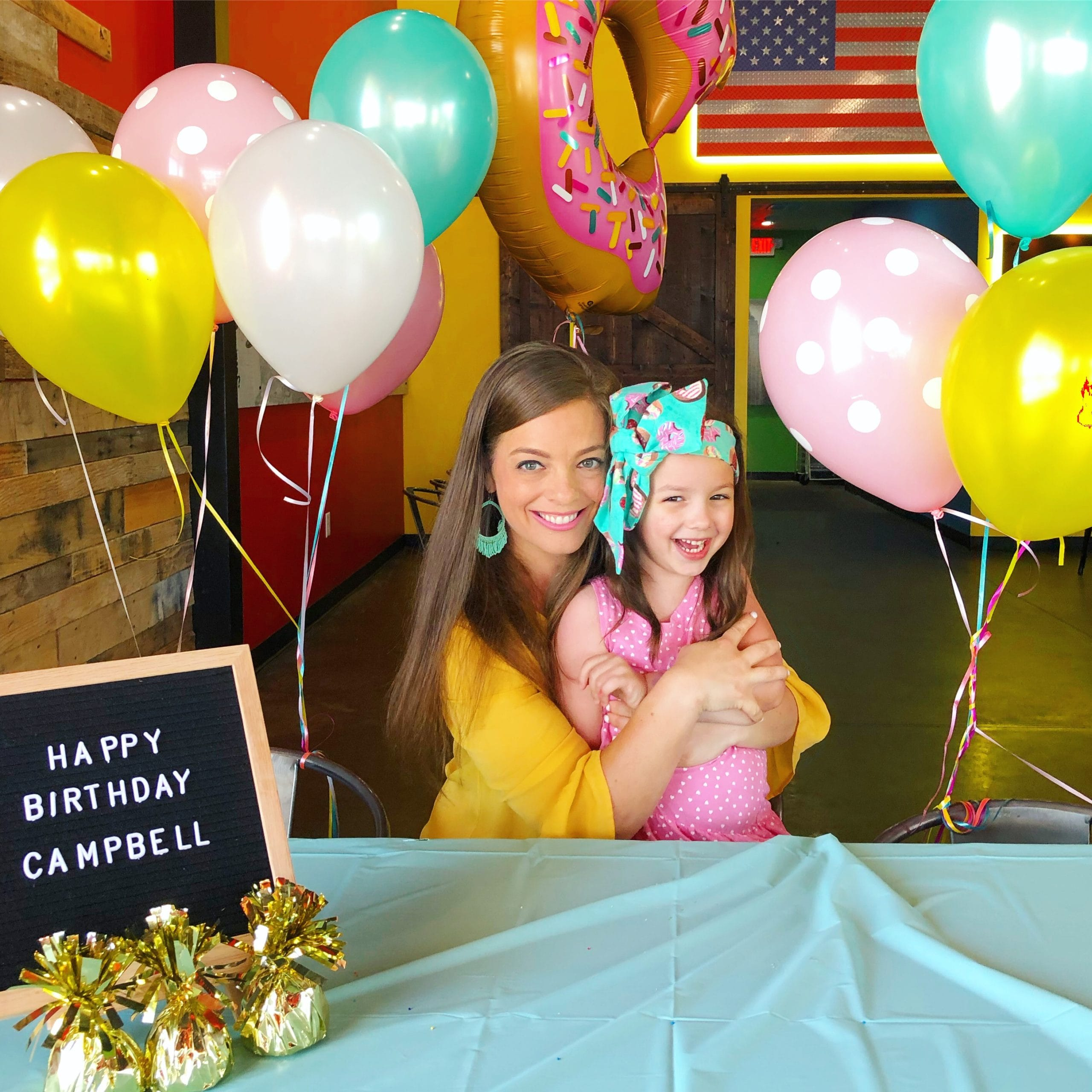 Stephanie Hanrahan and daughter Campbell's birthday party