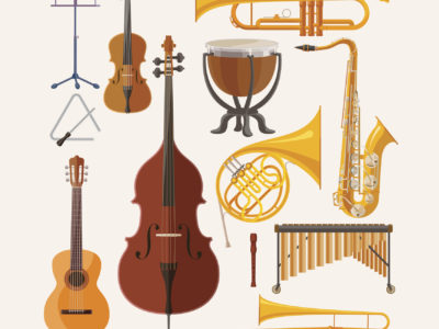 Various instruments for music
