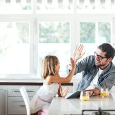 Father and daughter, personality types affect parenting