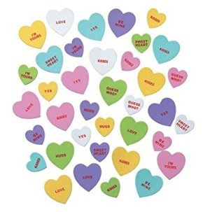 Kids valentine gifts candy heart stickers