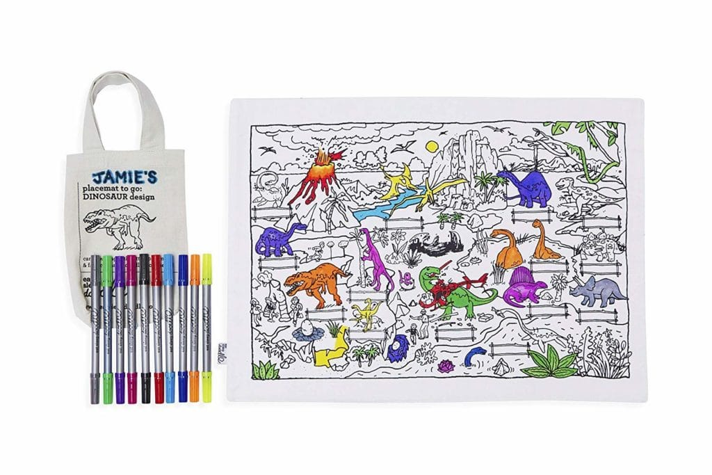Kids valentine's day gift coloring placemat