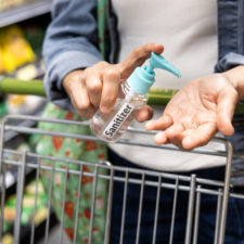 Sanitizing and safety at the grocery store