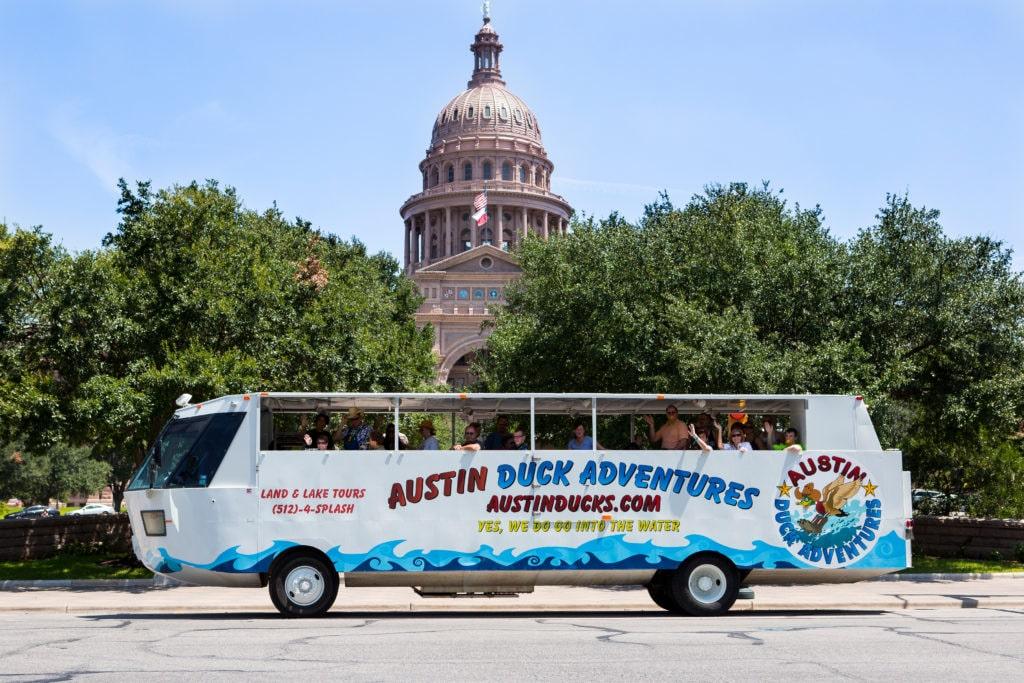 Austin Duck Adventures bus
