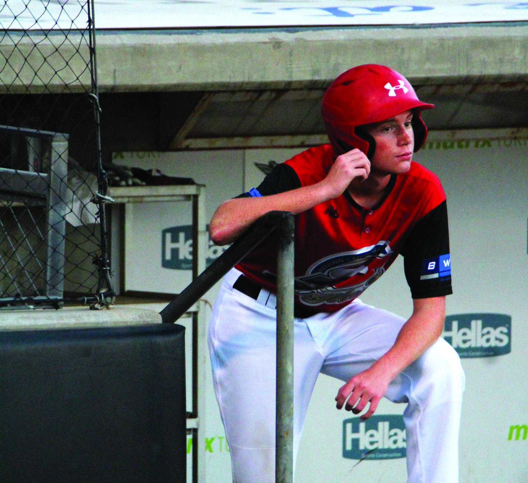 Ball boy at Texas AirHogs baseball game