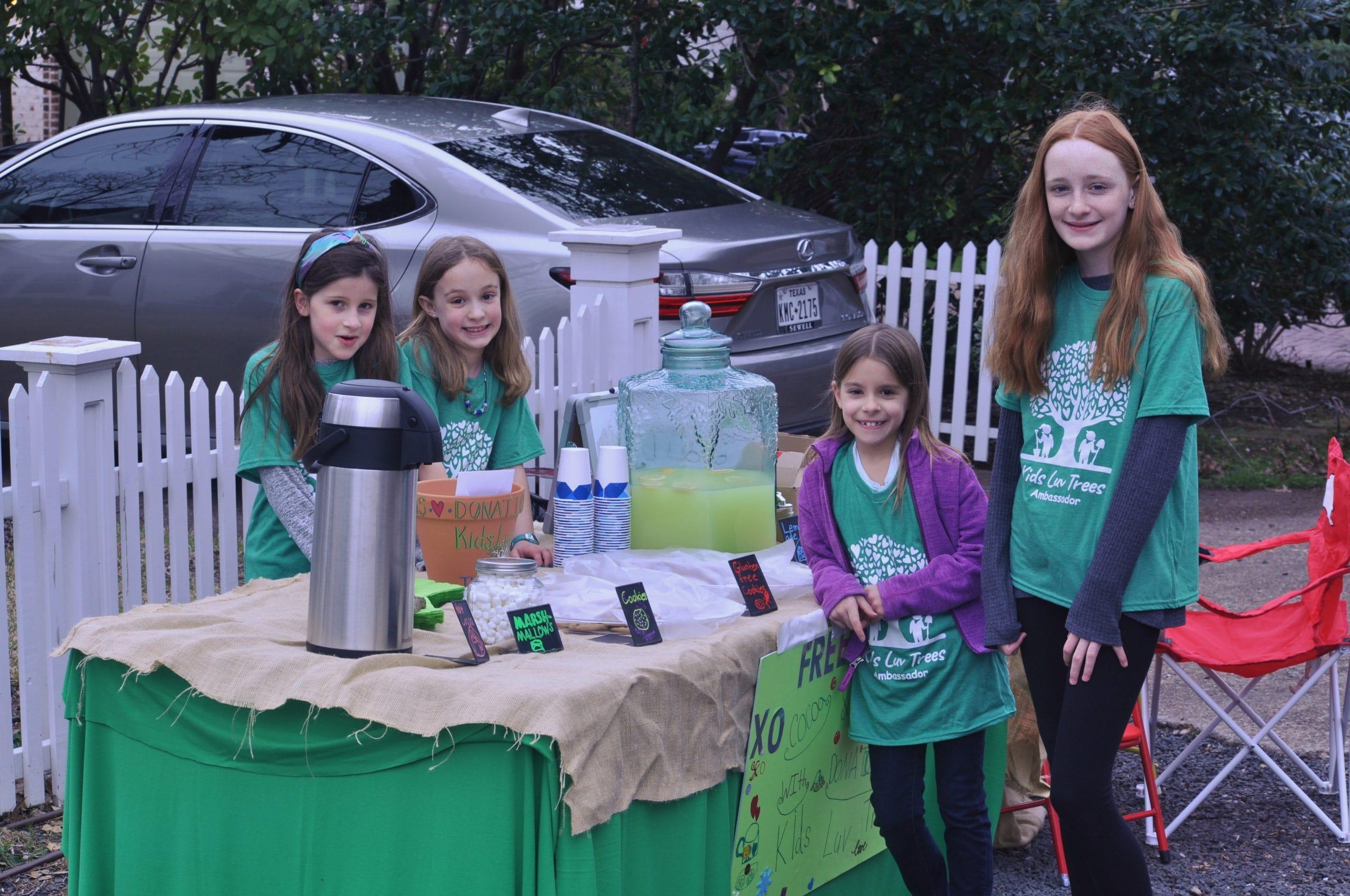 Kids Luv Trees lemonade stand