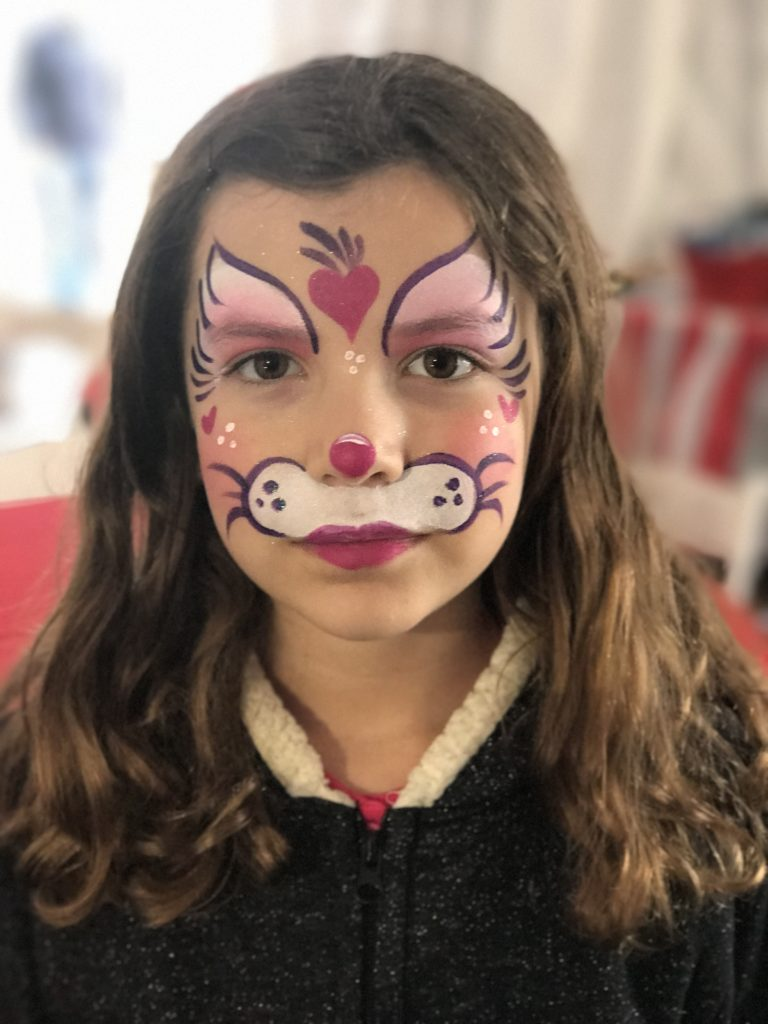 Face painting at Beauty and the Beast party