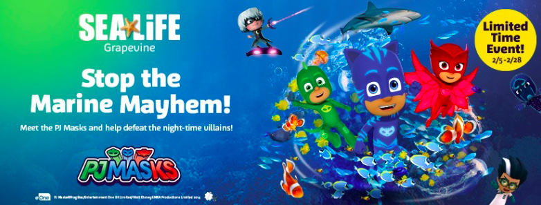 PJ Masks at Sea Life Aquarium