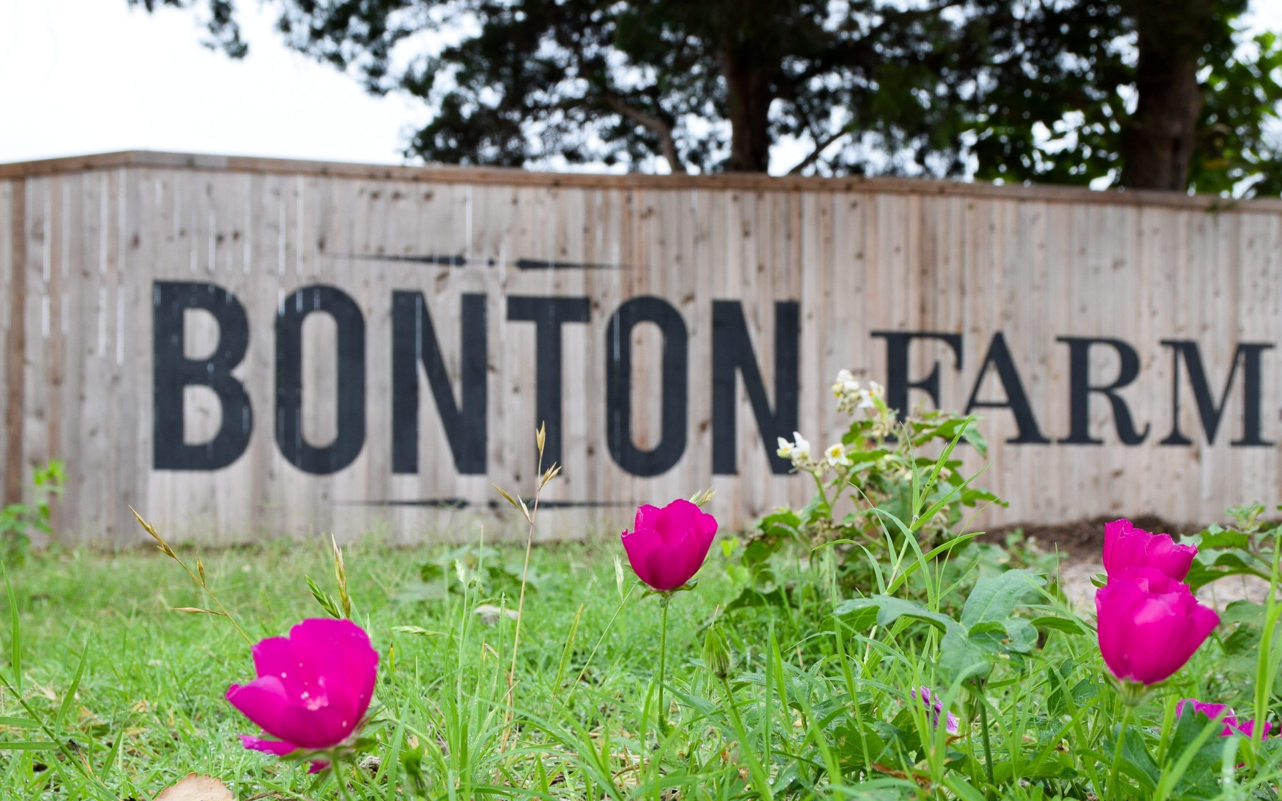 Bonton Farms sign in south Dallas