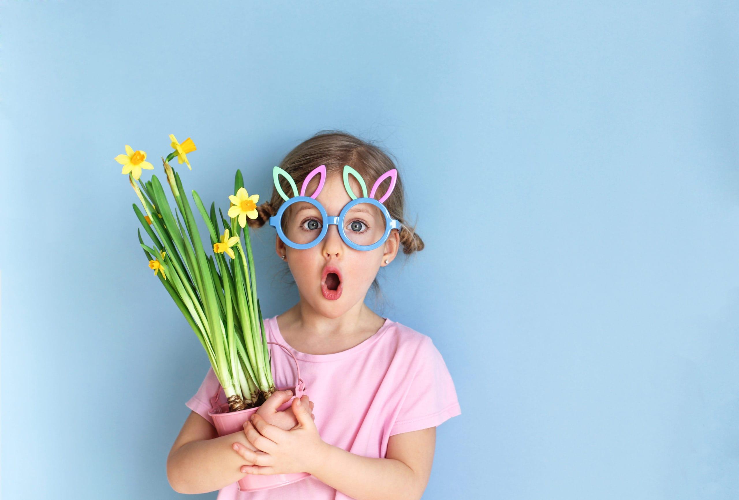 Child celebrating Easter