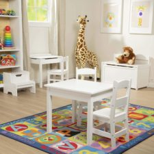Melissa and Doug bench and playroom equipment