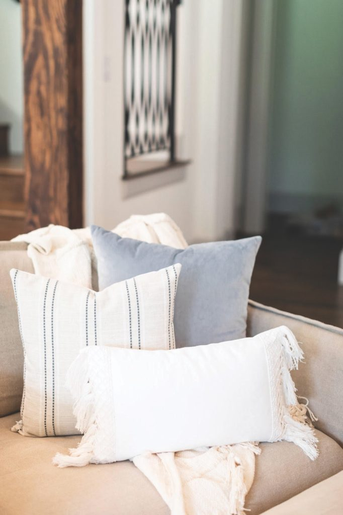 Throw pillows from Susie Robb