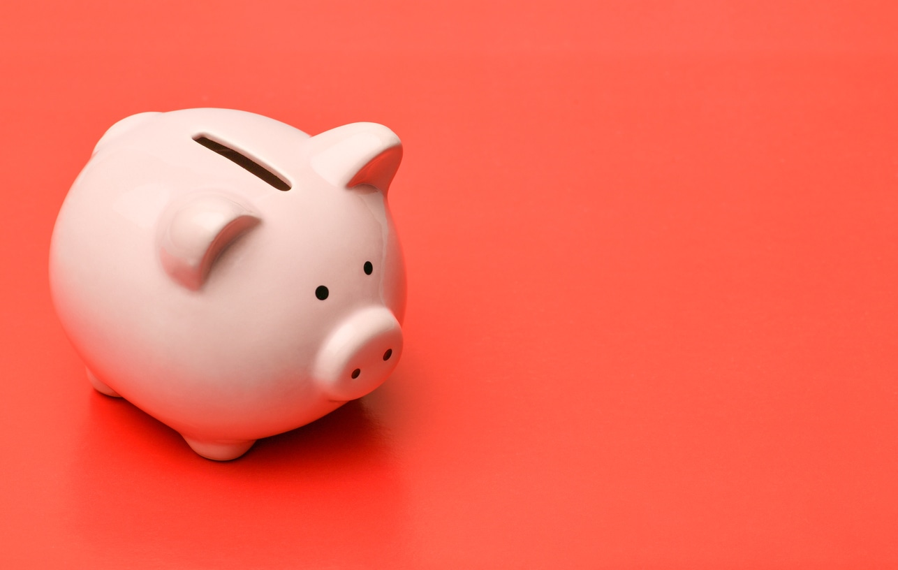 Piggy bank for kids and finances or money