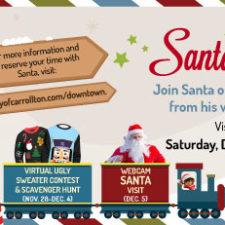 Virtual Santa on the Square, Carrollton