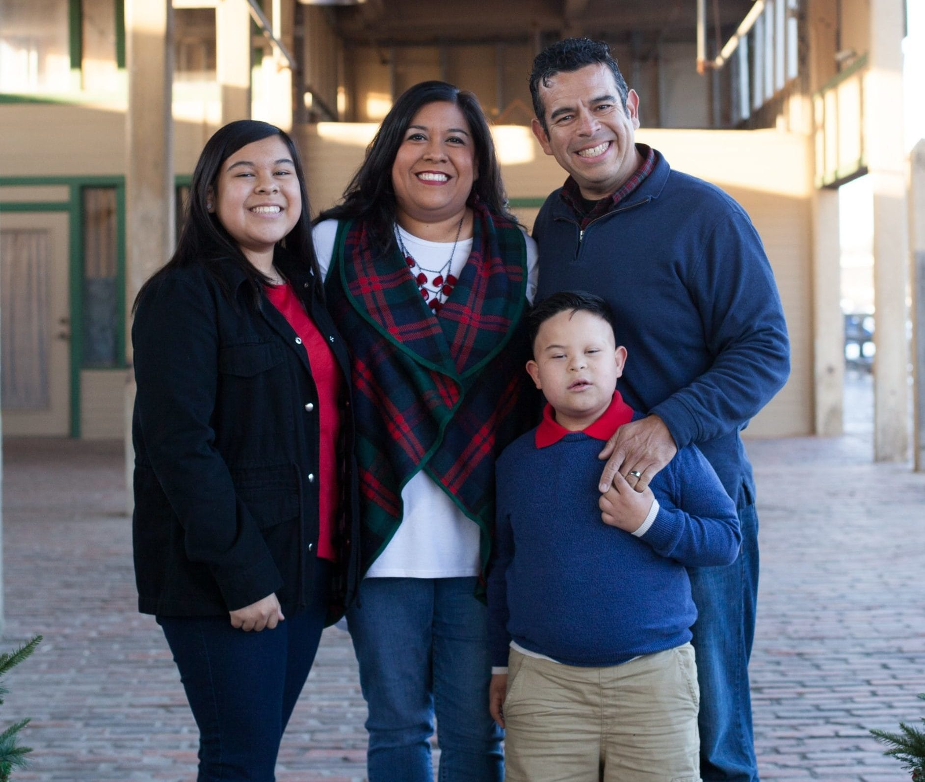 Maria Rosales and her family