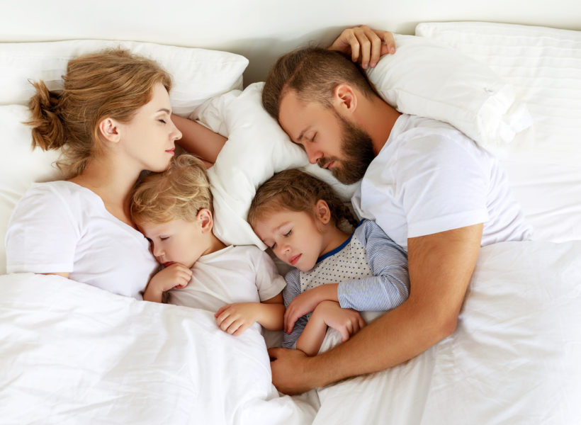 Parents in bed with kids; reclaim sleep space from kids