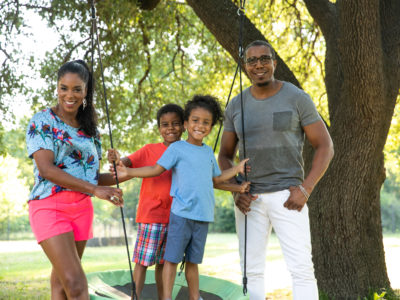 Jessica Shepherd and family in East Dallas
