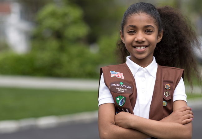 Girl Scouts featured