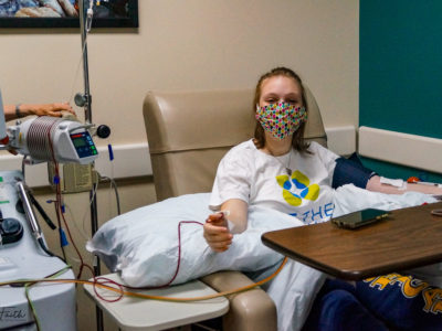 Keely Campbell donating for Be the Match