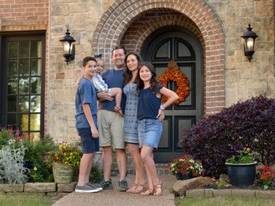 Carey Farmer and family in McKinney