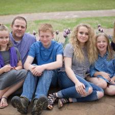 Eden Bullock and family in Keller