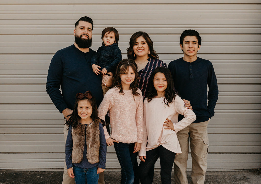 Paulina Flores and family in Grand Prairie