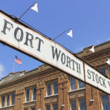 Fort Worth Stockyards and historical markers