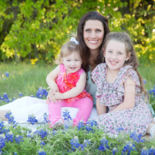 Jenny Brown and daughters in Mid-Cities