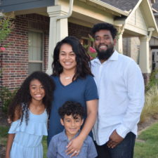 Lani Taylor and family in Arlington