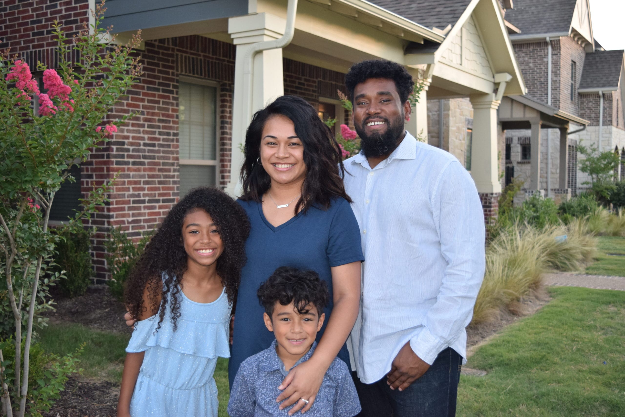 Lani Taylor and family in Arlington