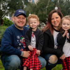 Sabrina Ray with family in Lantana
