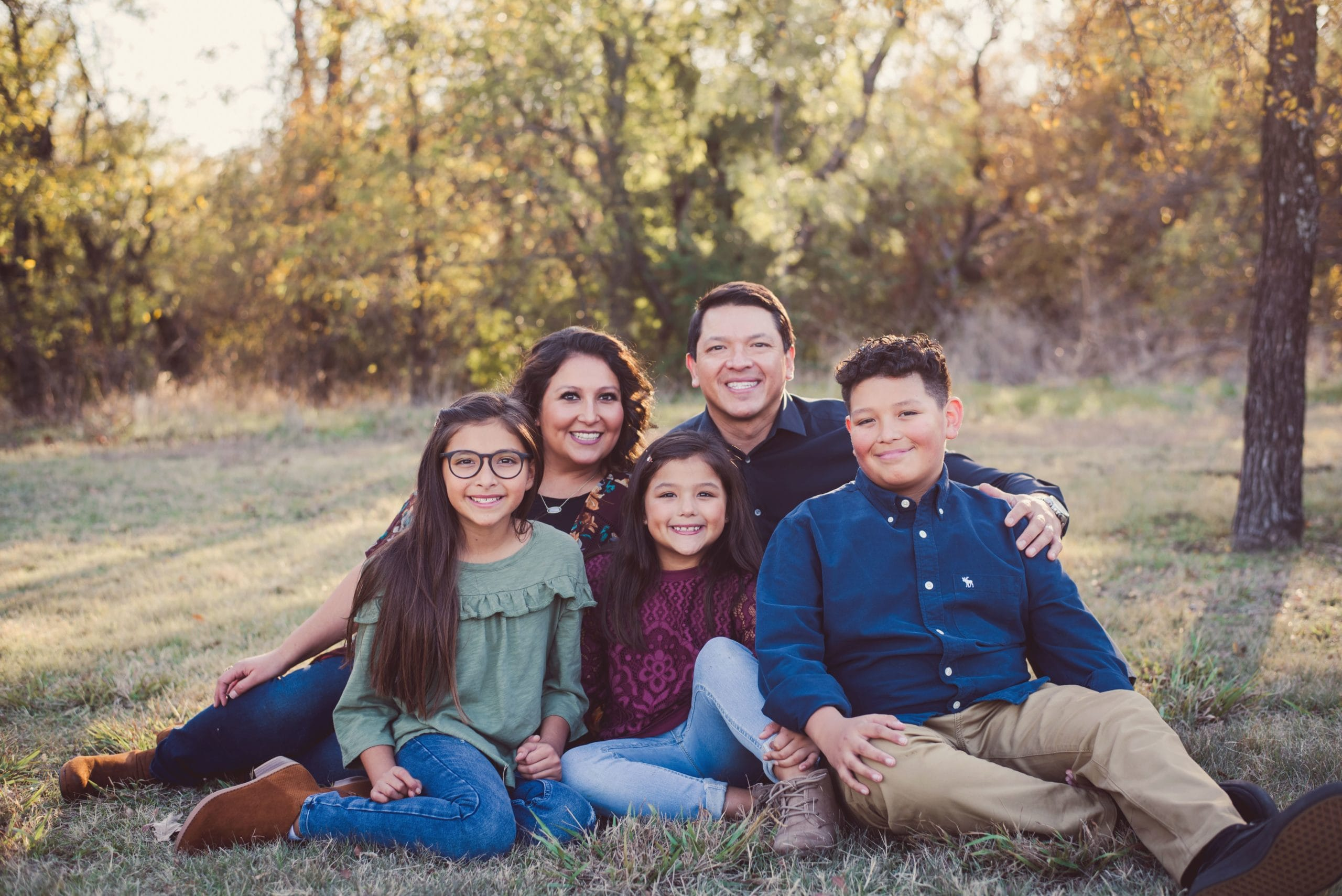 Alysia Rosas and family in Lewisville