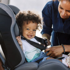 Little boy in car seat