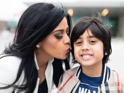 Yasmeen Tadia and son in East Plano