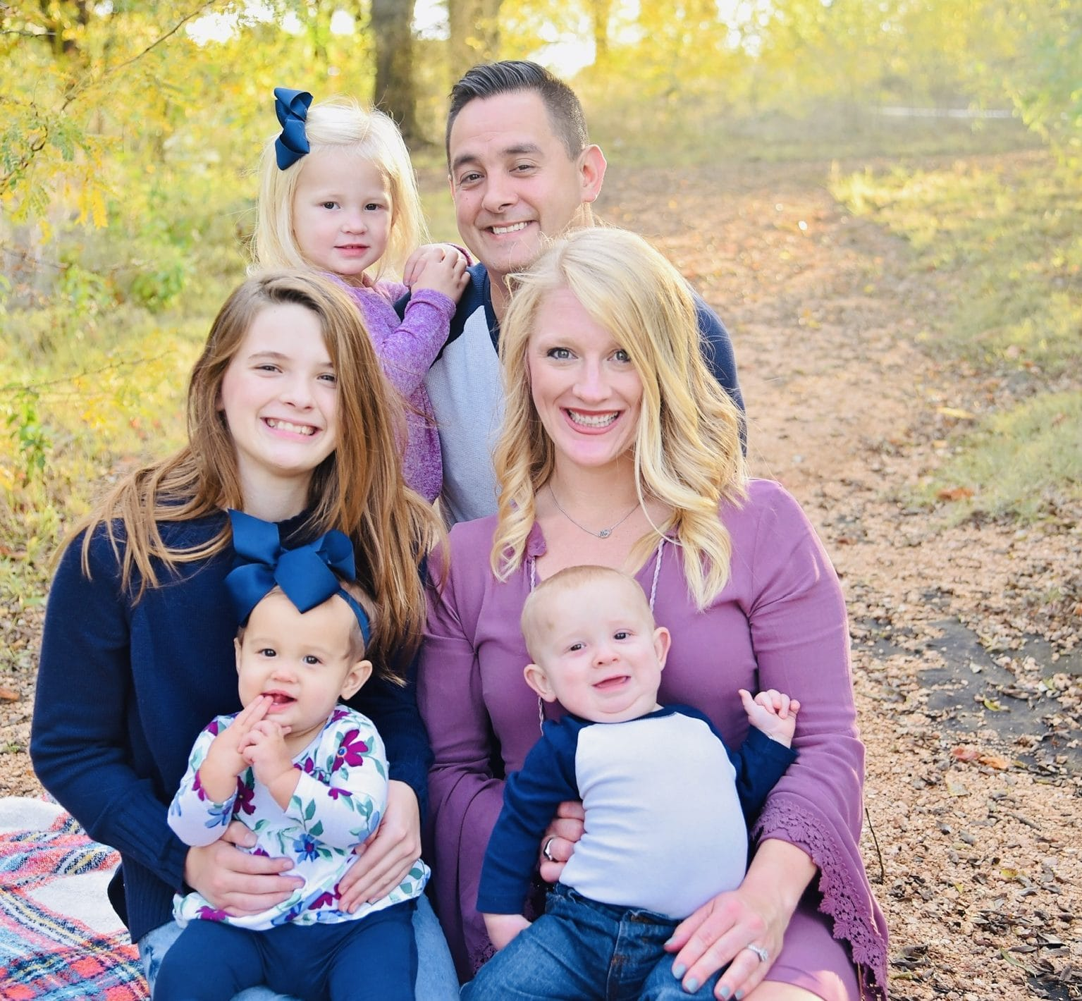 Alissa McBurney and family in Little Elm