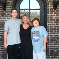 Lori Eason with her sons in Lucas