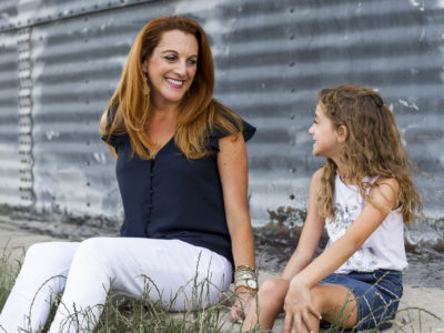 Jennifer Redman with daughter in Prosper