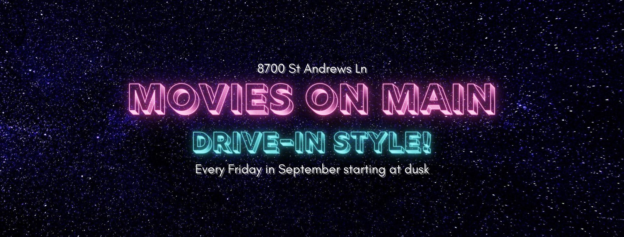 Rowlett's Drive-In Movies on Main