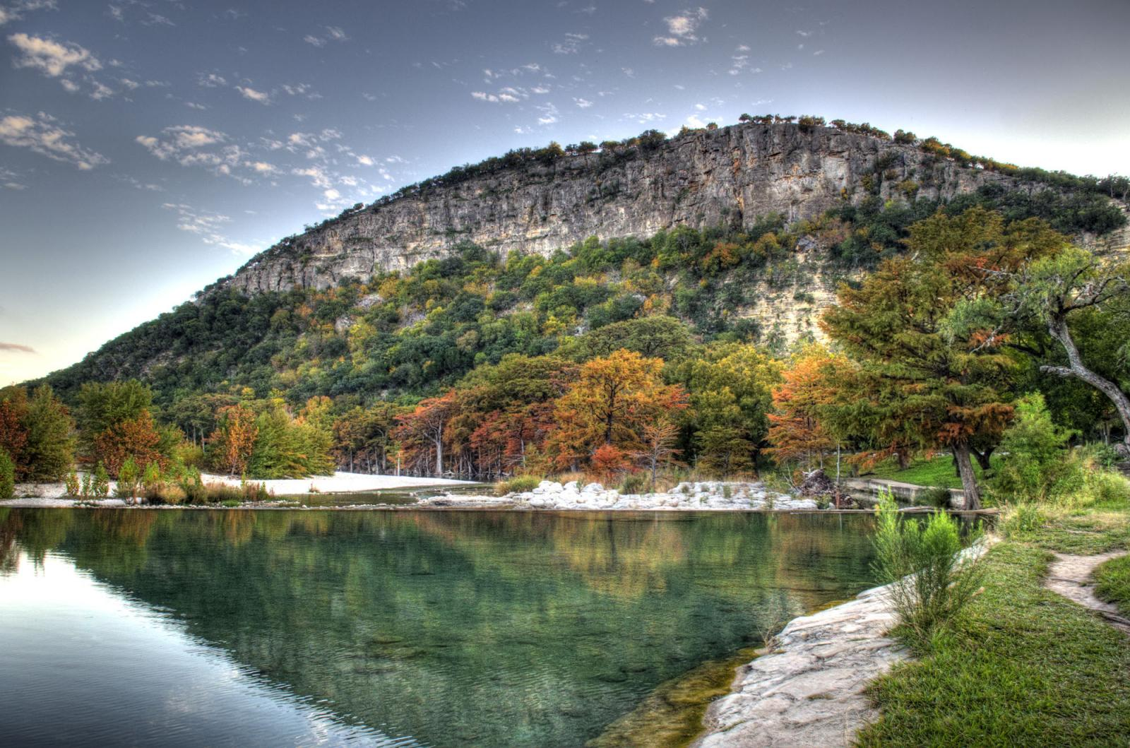 Hills in one of Texas' state parks