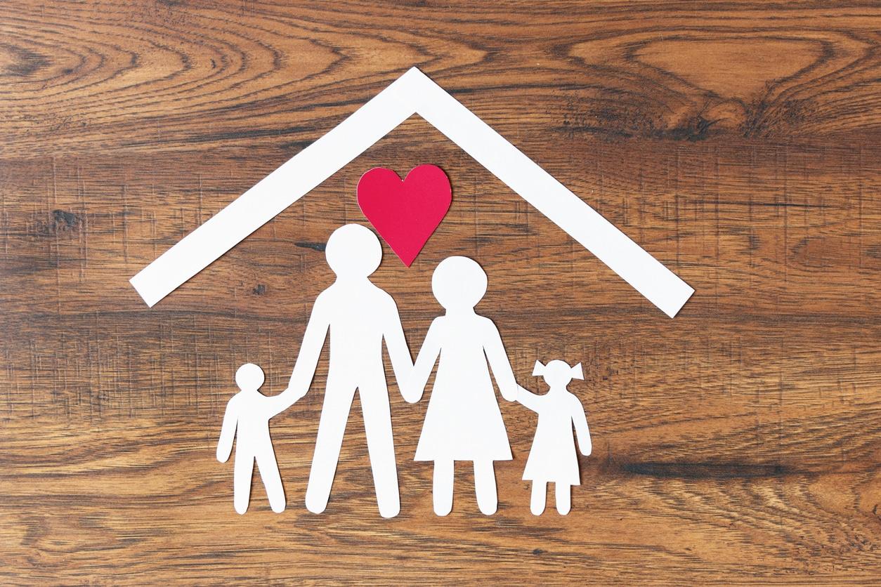 Family going through international adoption