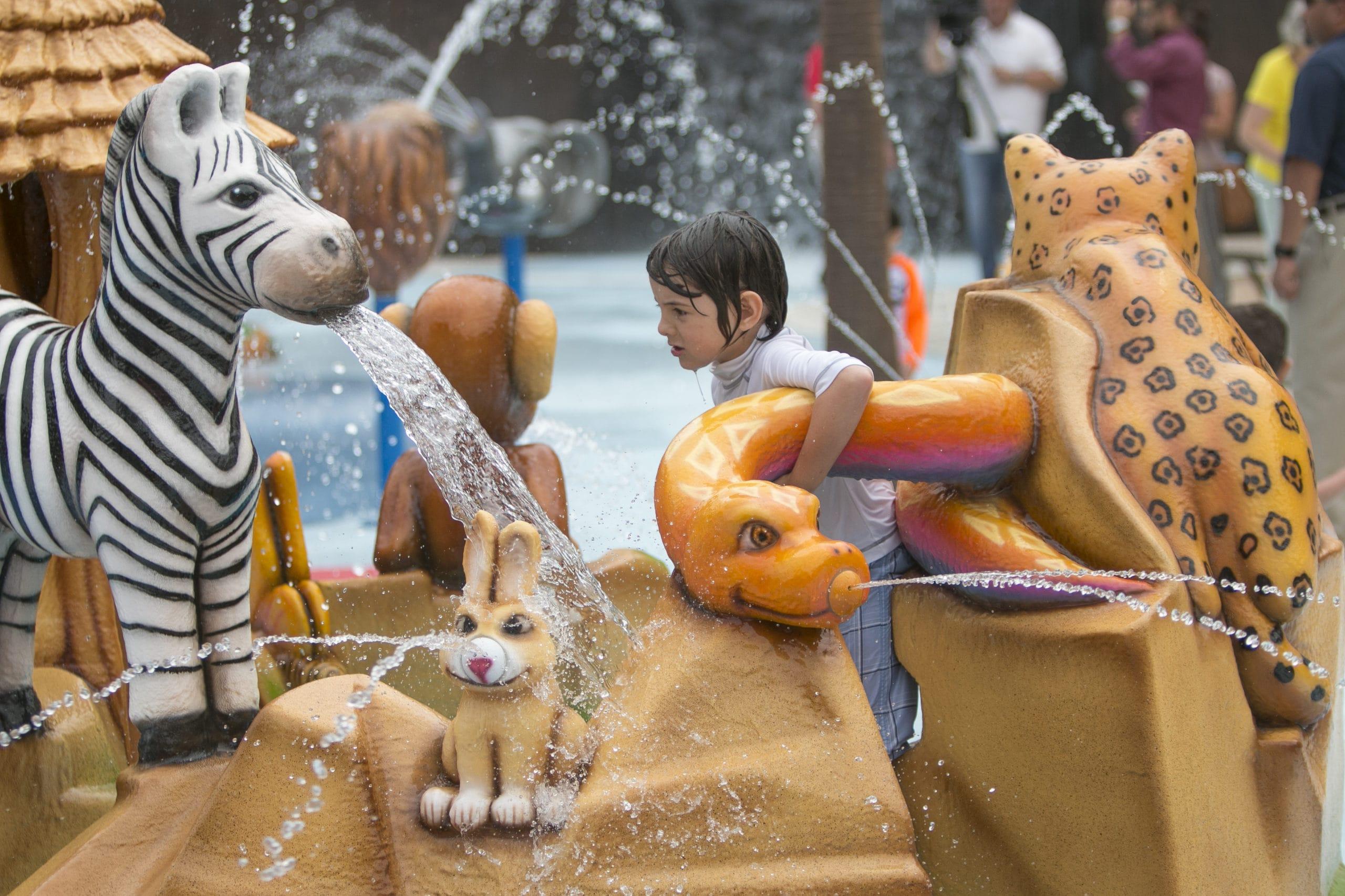 Fort Worth Zoo splashpad and spray ground