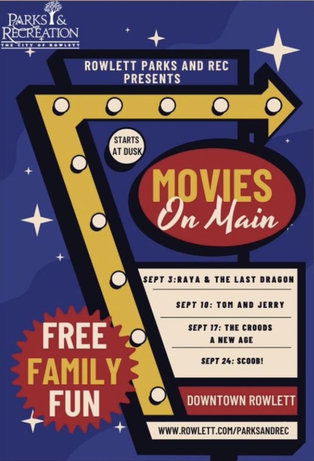 Rowlett Movies on Main