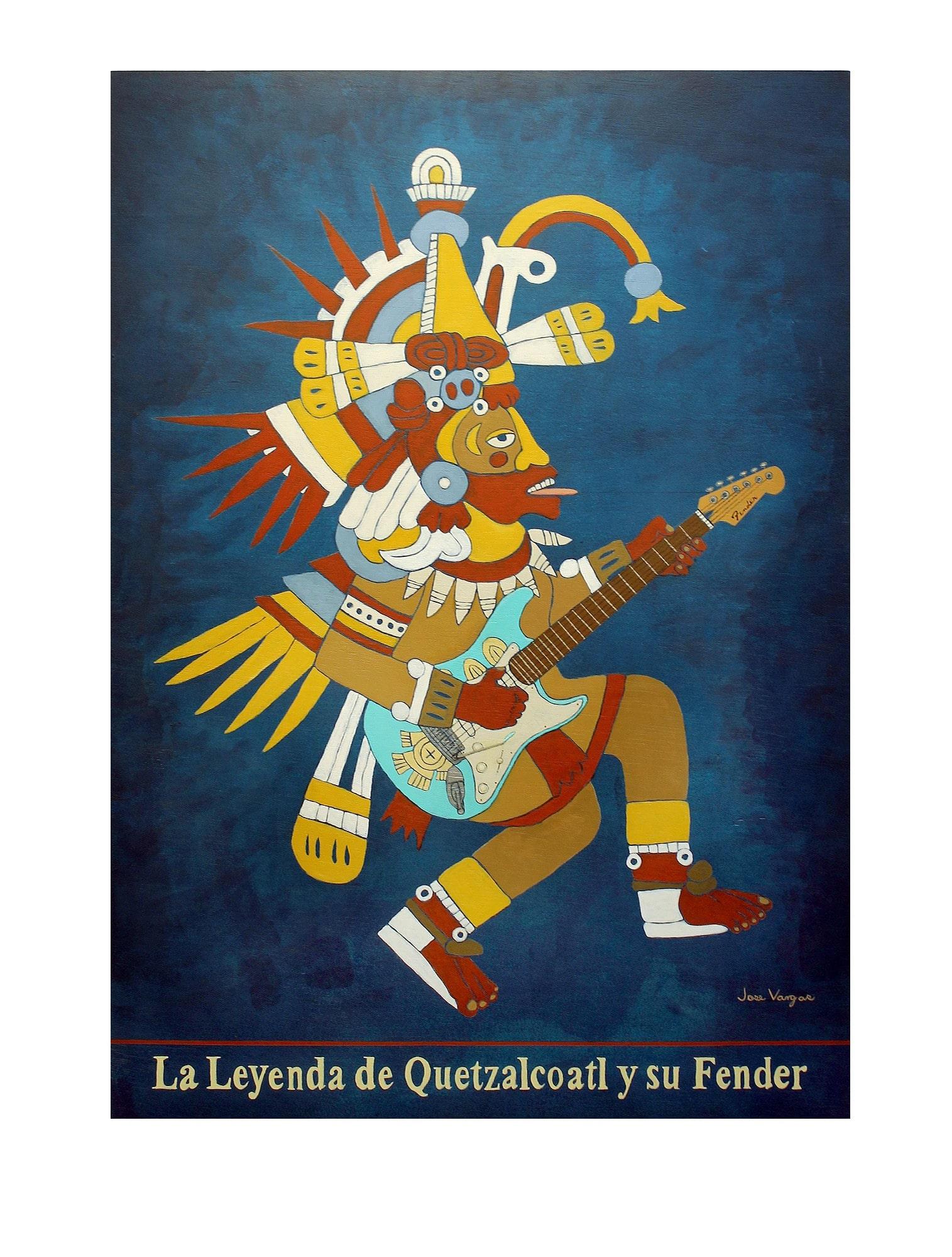 Latino Cultural Center art exhibit, Quetzal Quatro: Genaro Hernandez, Juan J. Hernandez, Samuel Torres and Jose Vargas