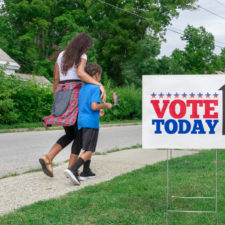 Mom teaching son to be a voter, raising a voter