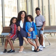 Danika Franks with her kids