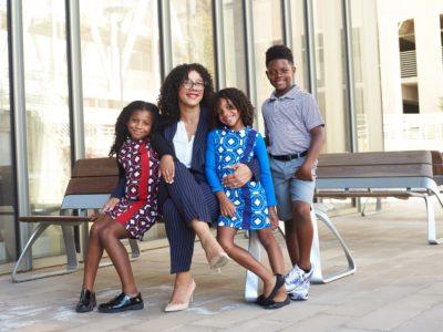 Danika Franks with her kids